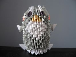 3d origami penguin by OrigamiGenius