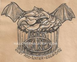 Bat Cakes Label by AmberStoneArt
