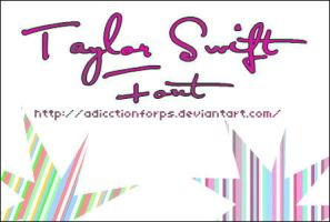 taylor swift font by adicctionforps