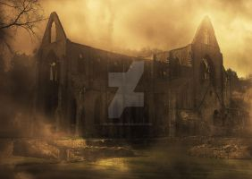 Tintern Abbey by graphicbird