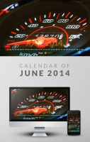 Freebie: Wallpaper Calendar of June 2014 by yahya12