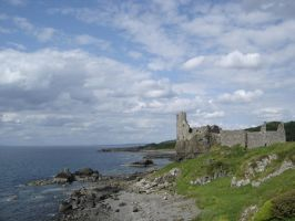 Castle Ruin Rocky Coast by Forest-Imp
