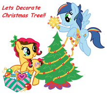 Lets Decorate Christmas Tree! by MLPCandyshy
