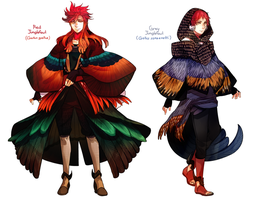 Plume Parade: Red Junglefowl and Grey Junglefowl by ROSEL-D
