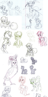 Biweekly School Sketches 6 by FrostheartIsSiamese