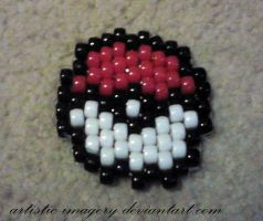 Kandi Pokeball by Artistic-Imagery