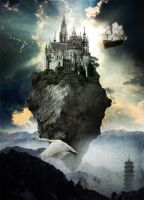 Flying Castle by Mondelfe