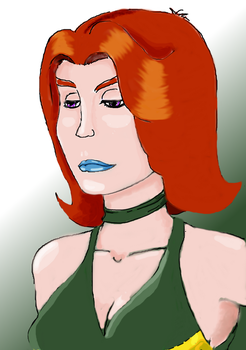 Red Malva by Half-of-a-mask