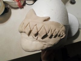 Hollow mask left side done. by AFKBrandy