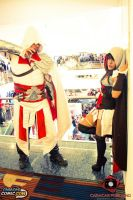 Female Assassin and Ezio-Assassin`s creed cosplay by megamihinata
