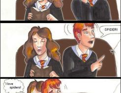 Hermione loves spiders-comic by bachel60