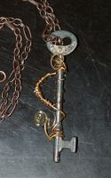 Steampunk Necklace by PennyHorrible