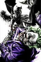 Batman and The Joker by jokercrazy