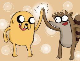 jake and rigby by jakeElPerroVocaloid