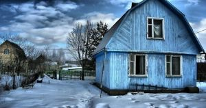 Blue Hause On Rural Russia by Beauty4ever