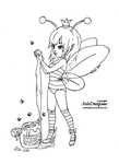 Queen Bee - Lineart by JadeDragonne