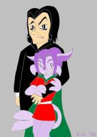 Elly and Snape by zacharysurge