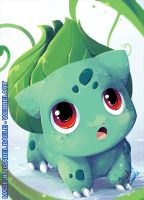 Bulbasaur aceo commission by tikopets