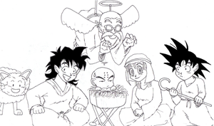 Dragonball Xmas Nativity Scene by FunkMonkey777