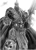 Arthas Menethil - The Lich King (commision) by KorD12