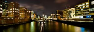 Panorama Port City Hamburg by Bull04