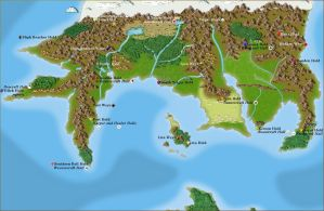The Northern Continent of Pern (Labeled) by Oracle-The