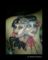 my art on tattoo by Michael Molinos by oldSkullLovebyMW