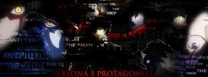 Persona 5 Protagonist (The Phantom) Cover Photo by blasiankid