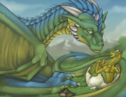 Hatching Dragons by Tojo-The-Thief