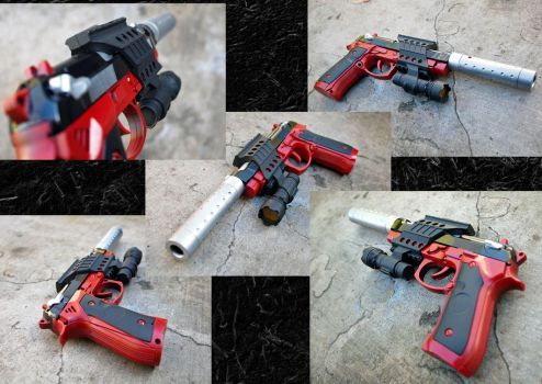 Gauntlet Beretta, Red and Clean by KillingjarStudios