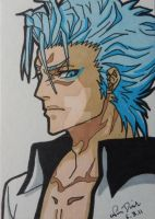Grimmjow ACEO card by LadyNin-Chan