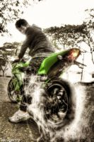 Ninja 250 R burnout by BenzGerry