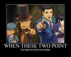 Professor Layton vs Ace Attorney -OBJECTION by EmmyAltava1
