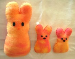Sunset Sherbet Peeps by P-isfor-Plushes