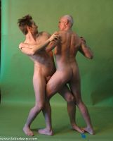Nude Fighting Men 5 by TheMaleNudeStock