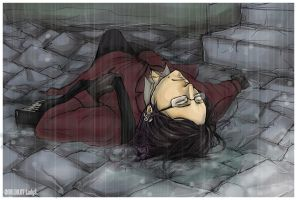 APH Alone in the rain. by ladyStyx