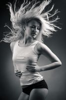 Windy blonde by Vitaly-Sokol