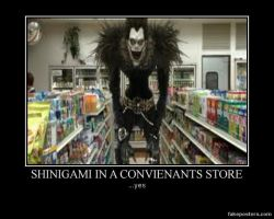 Shinigami in a Convienants Store by sadionamu