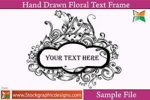 Hand Drawn Floral Text Frames by Stockgraphicdesigns