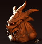 Zbrush Demon Sketch 01 by FrancoFerrari