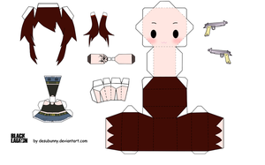 Black Lagoon Revy Papercraft by tsunyandere
