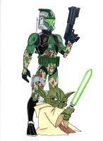 Commander Gree and General Yoda by Spartan-055