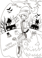 +Halloween Lineart+ by Nay-Hime