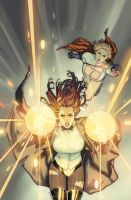 Power Girl cover 23 SAMI BASRI by DeevElliott