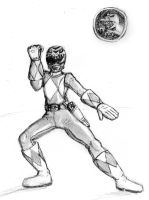 Mighty Morphin Gray Ranger by TRice01
