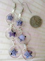 Lavender Origami Hoops by roserevolution