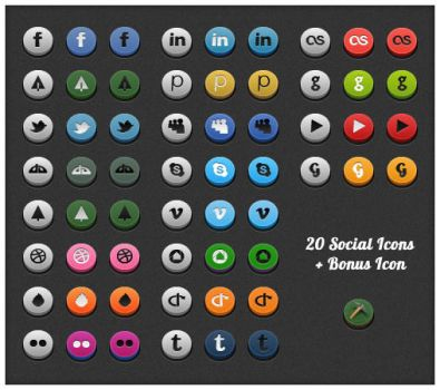 Social 3D Icons by Real99