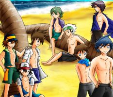 P-Guys at the Beach by LiliNeko