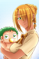Beelzebub: Hilda and Baby Beel by carapau
