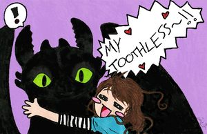Crazy for Toothless by Kantuya